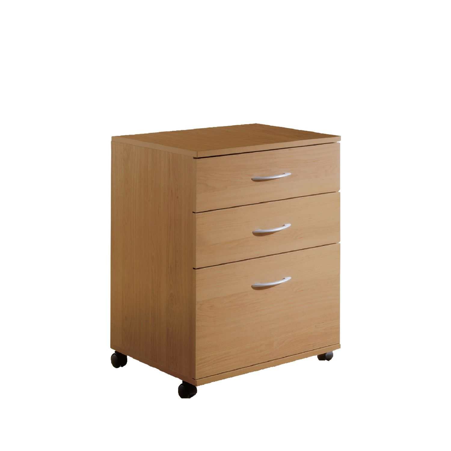 drawer drawers mobile cabinet maple nexera natural finish file dp