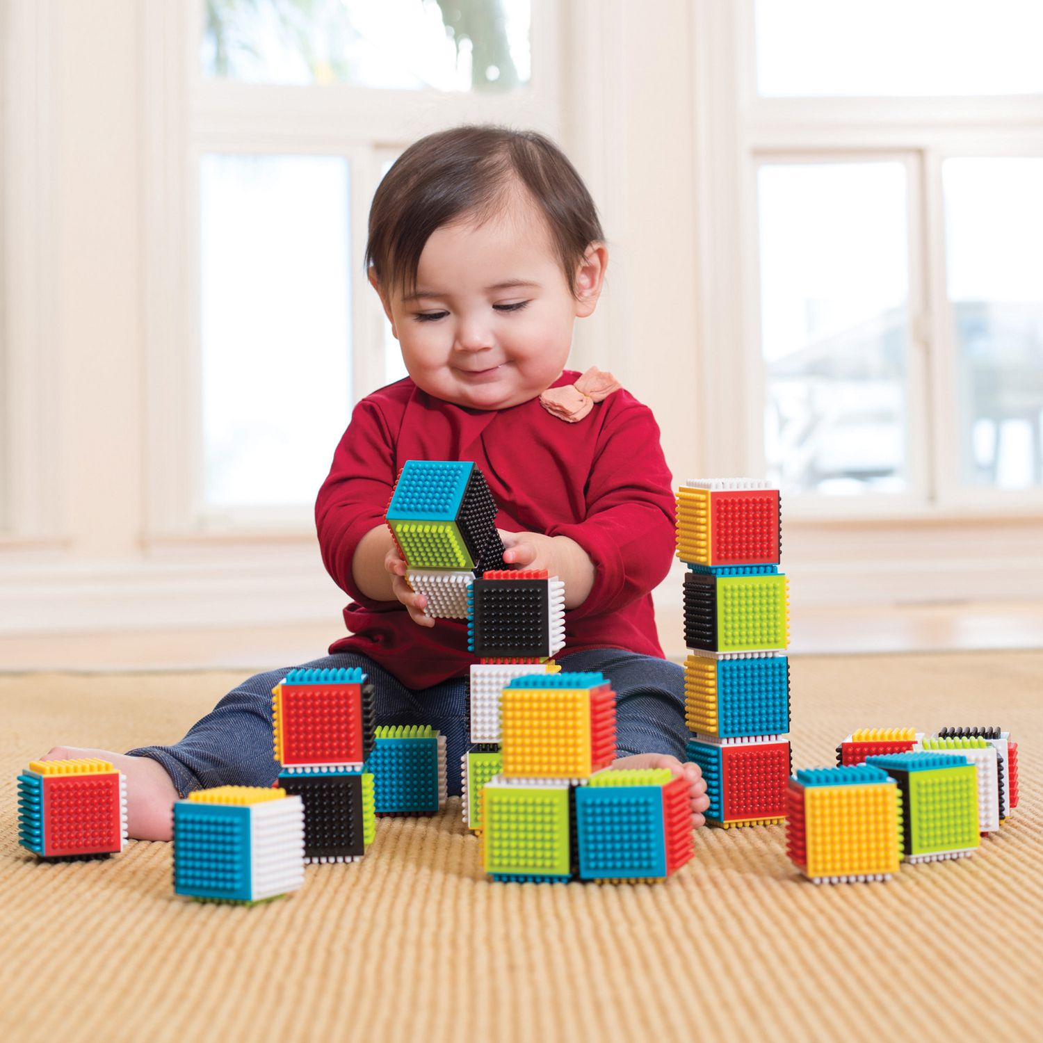 Infantino Press & Stay Sensory Blocks