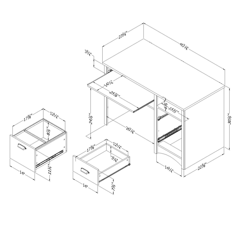 office desk size. Office Desk Height. Height E Size A