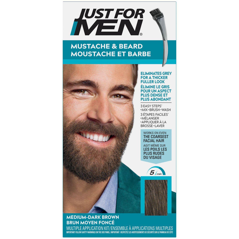 Fantastic Just For Men Mustache And Beard Medium Dark Brown Haircolour M 40 Natural Hairstyles Runnerswayorg