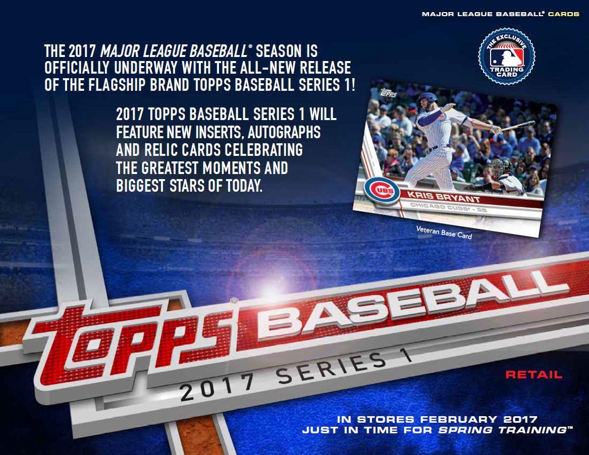 Topps 2017 Series 1 Baseball Walmart Value Box Trading Card Game English