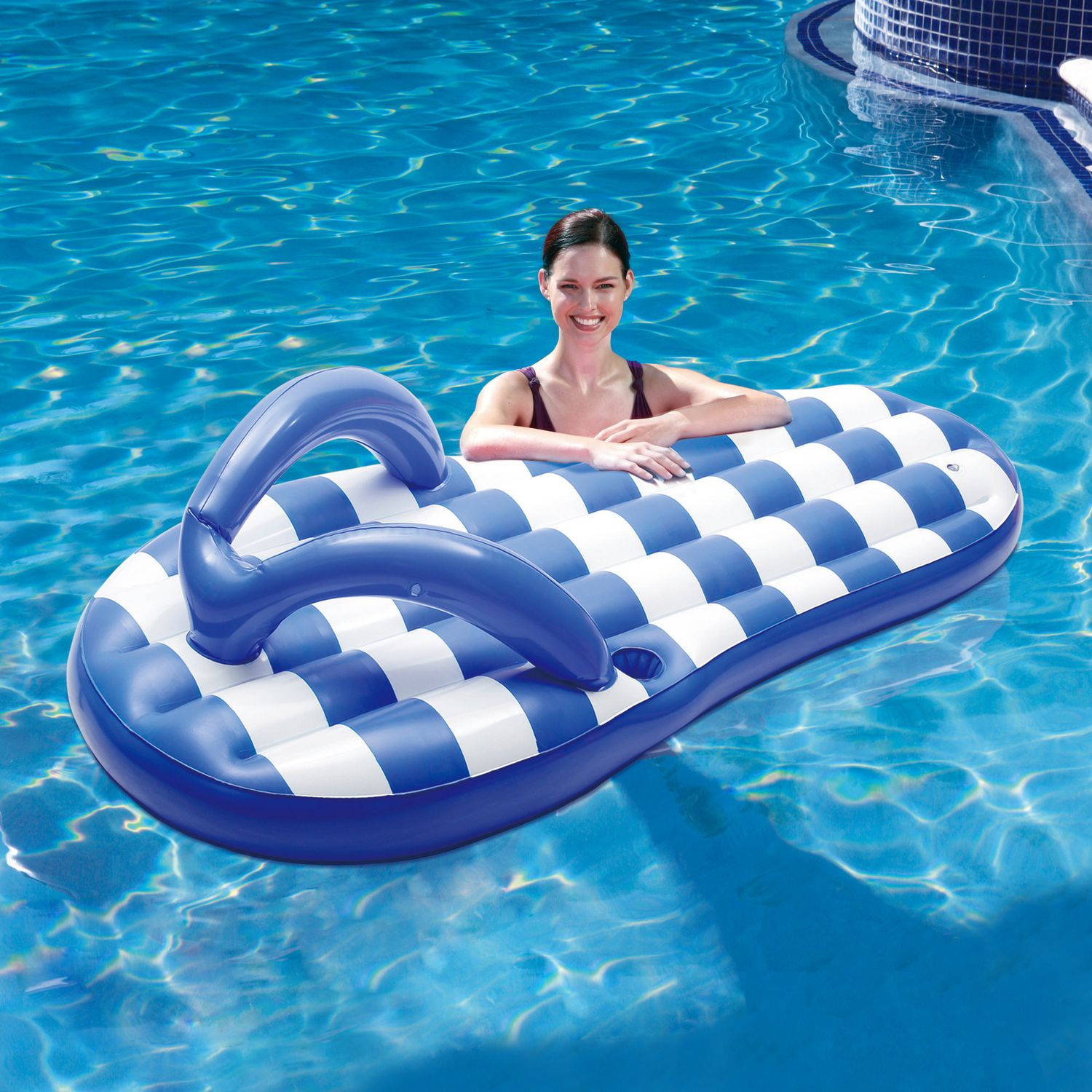 Blue Wave Marine Blue Flip Flop 71 in Inflatable Pool Float