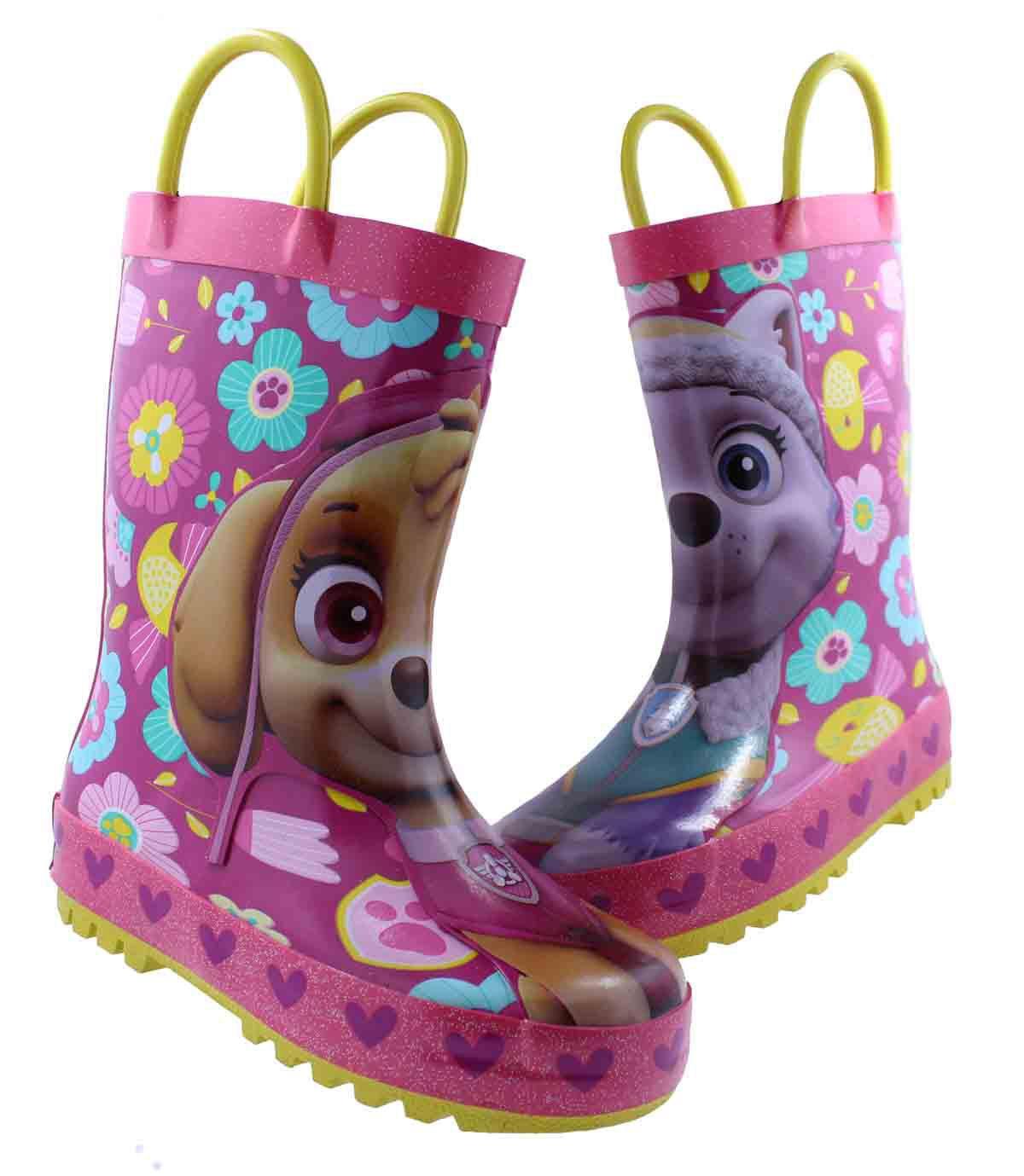 paw patrol skye rain boots