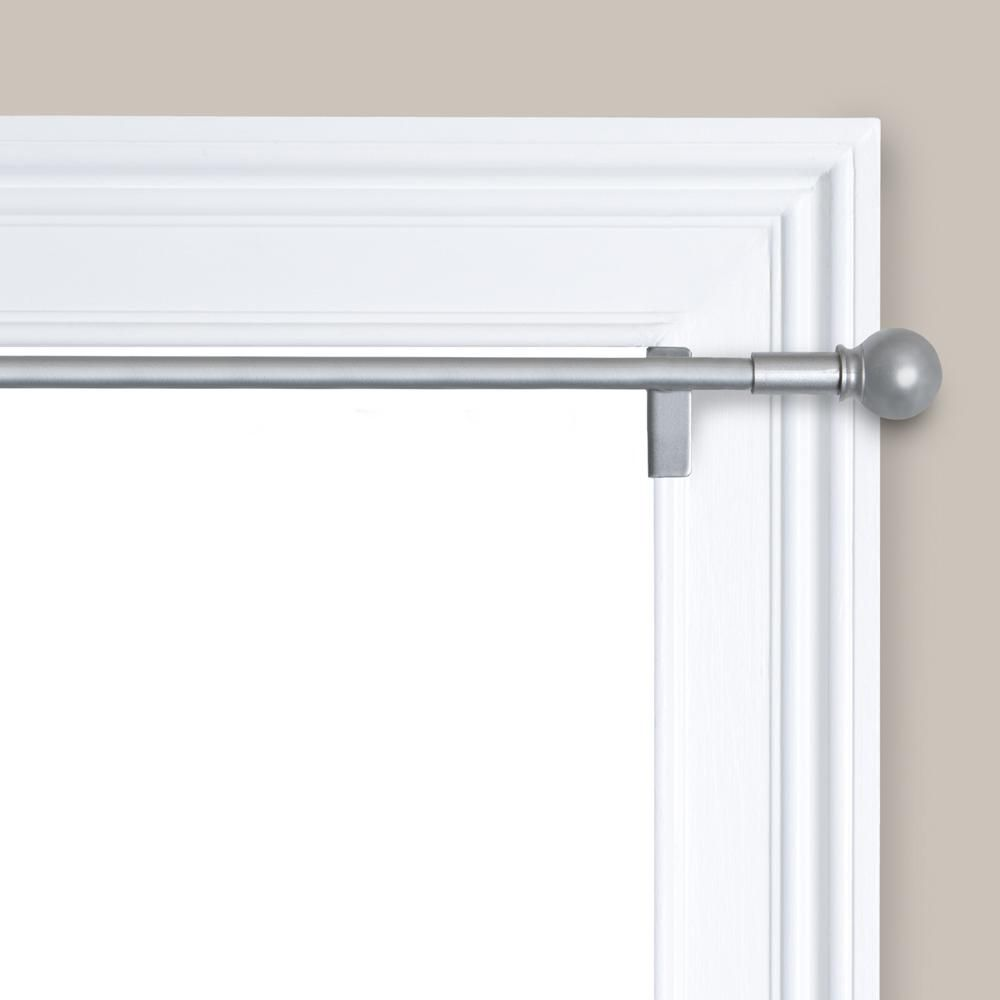 Maytex Smart Rods Twist And Shout Tension Window Curtain