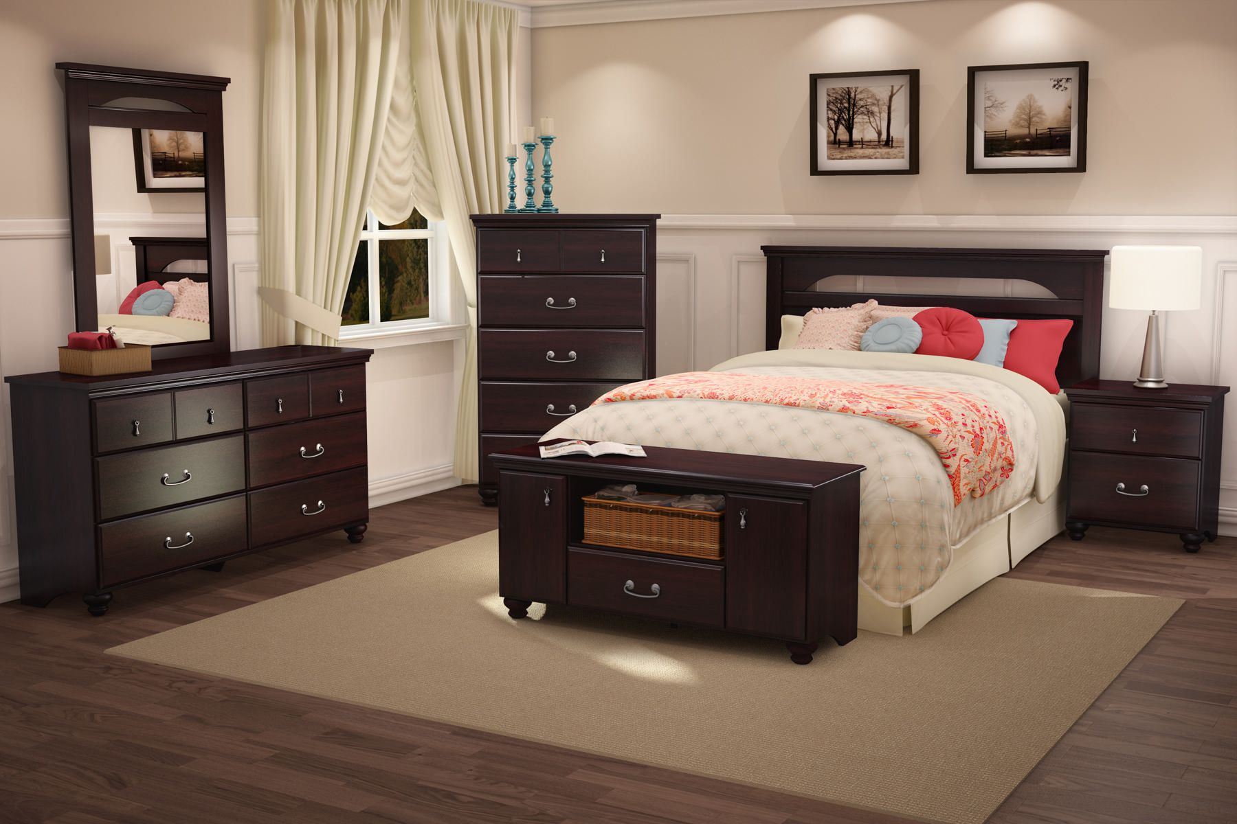 South Shore Bedroom Furniture South Shore Noble Collection 5 Drawer Chest Dark Mahogany