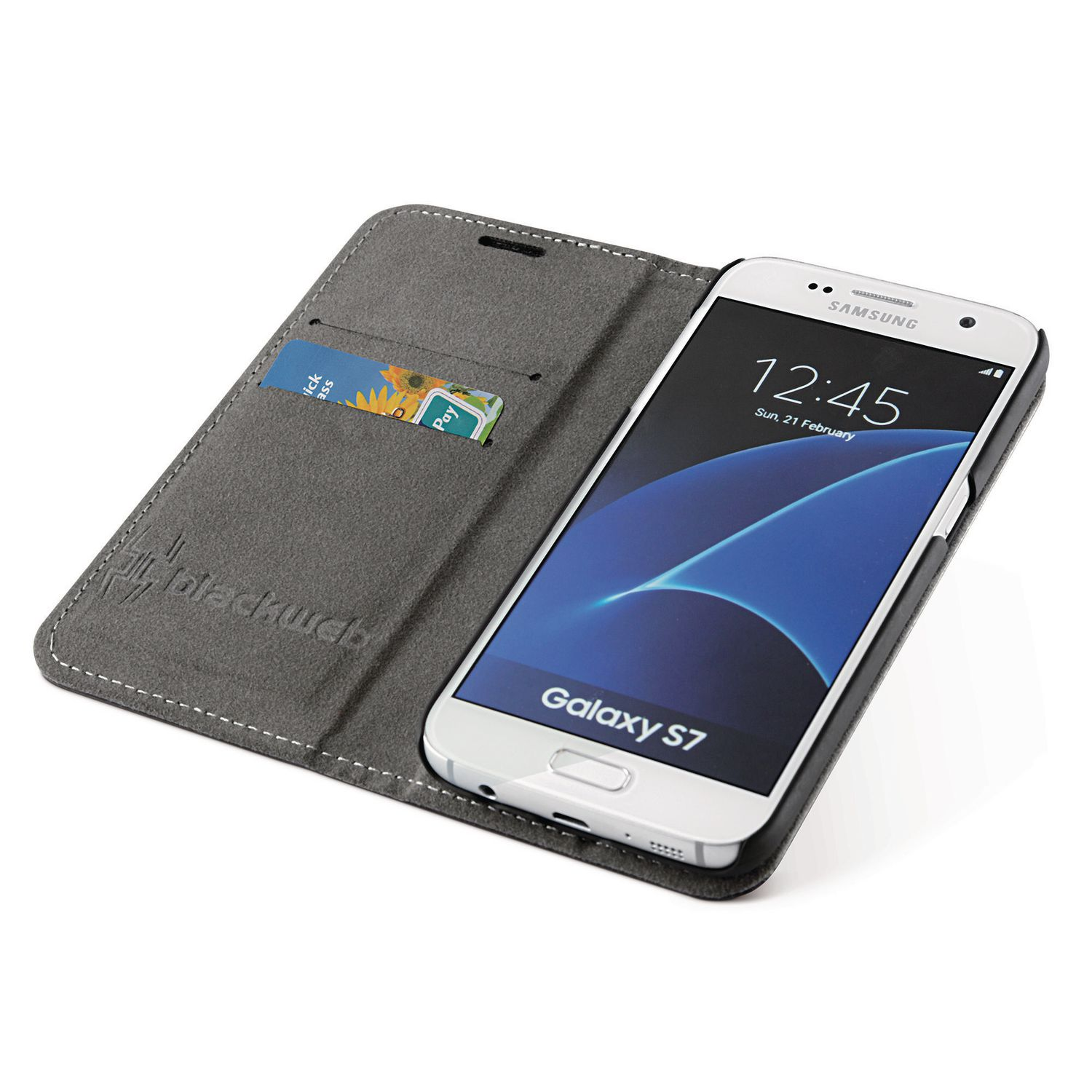 timeless design e7e7c 4f247 blackweb 2-In-1 Magnetic Wallet Case for Galaxy S7