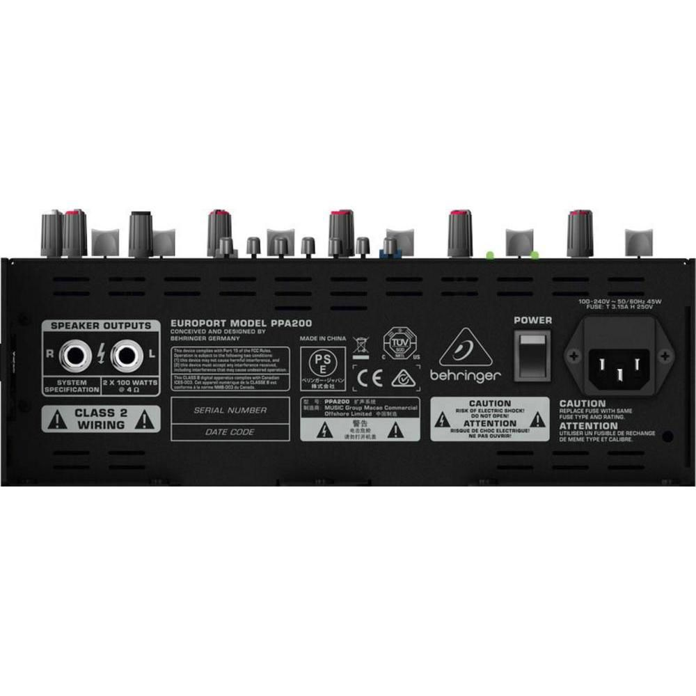 Behringer Europort 5 Channel Portable Pa System Ppa200 Walmart Mic Wiring Canada