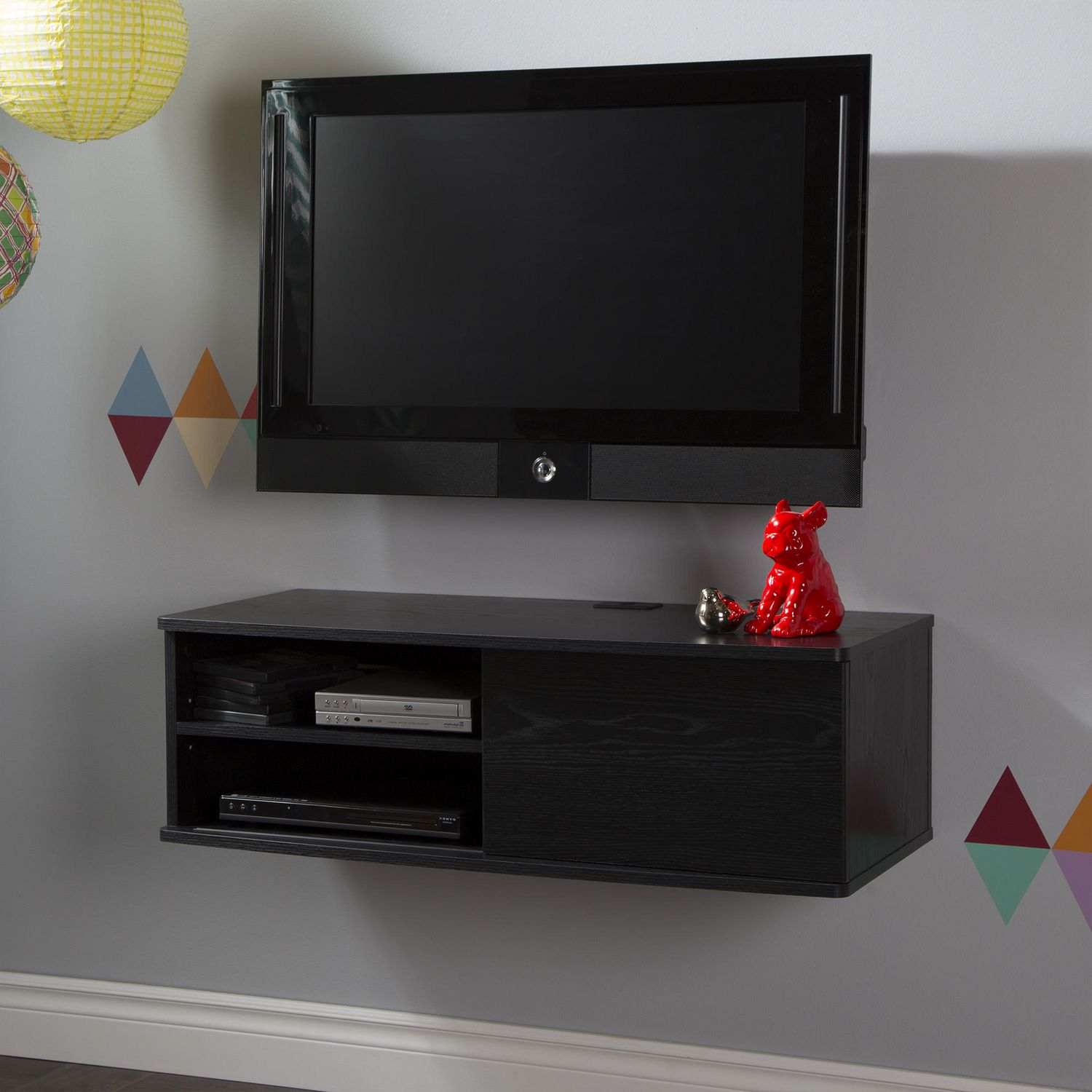South Shore Agora Wide Wall Mounted Media Console 36 inch