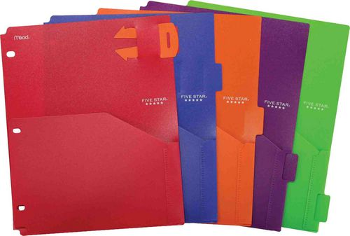 five star poly pocket dividers with pull out reminder tabs walmart canada