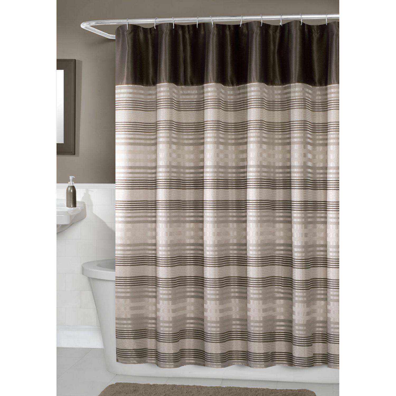 Hometrends Blake Fabric Shower Curtain