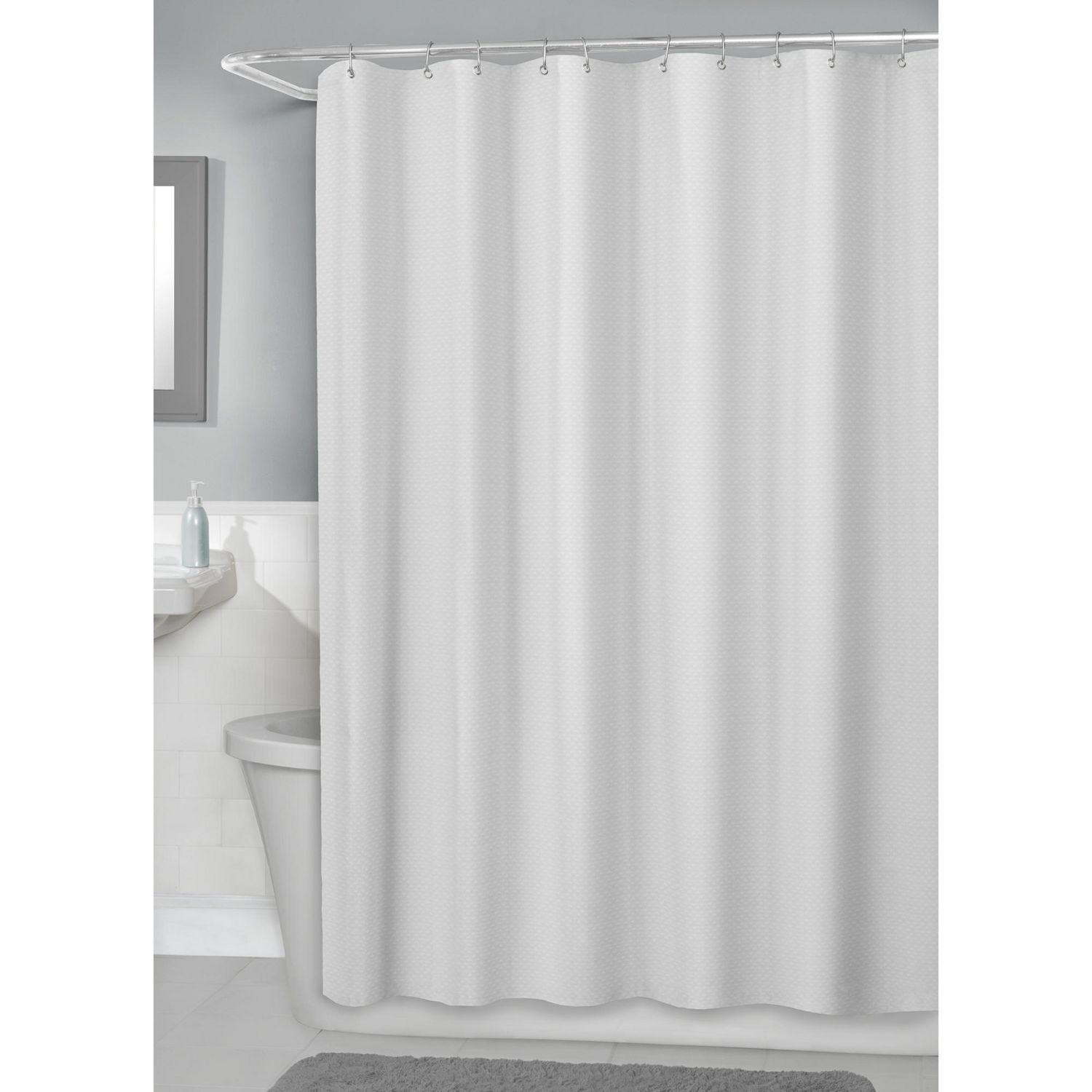 weave waffle home curtains in com kitchen curtain amazon x dp shower white zenna hotelwaffle luxury