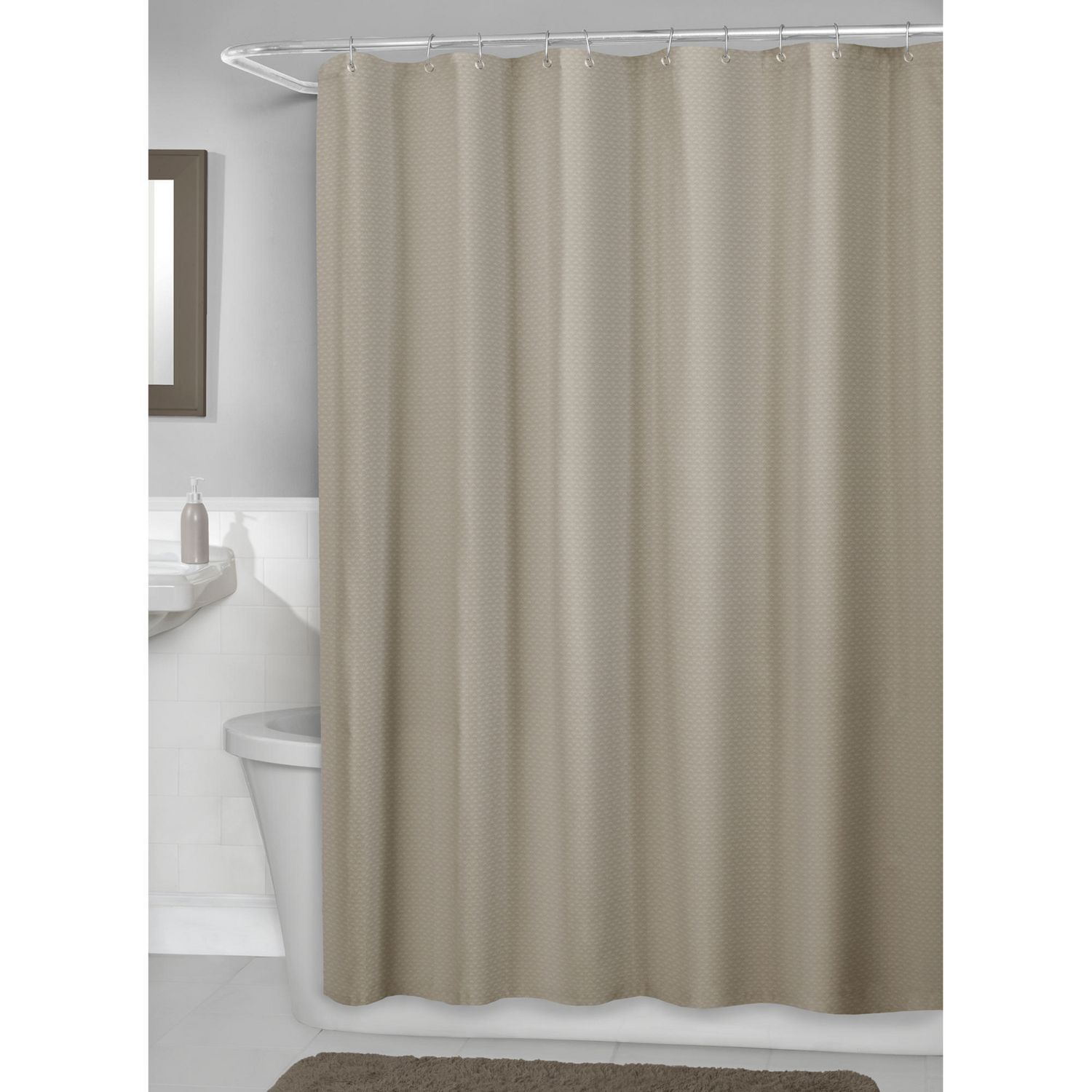 hometrends Waffle Fabric Shower Curtain with PEVA Liner   Walmart ...