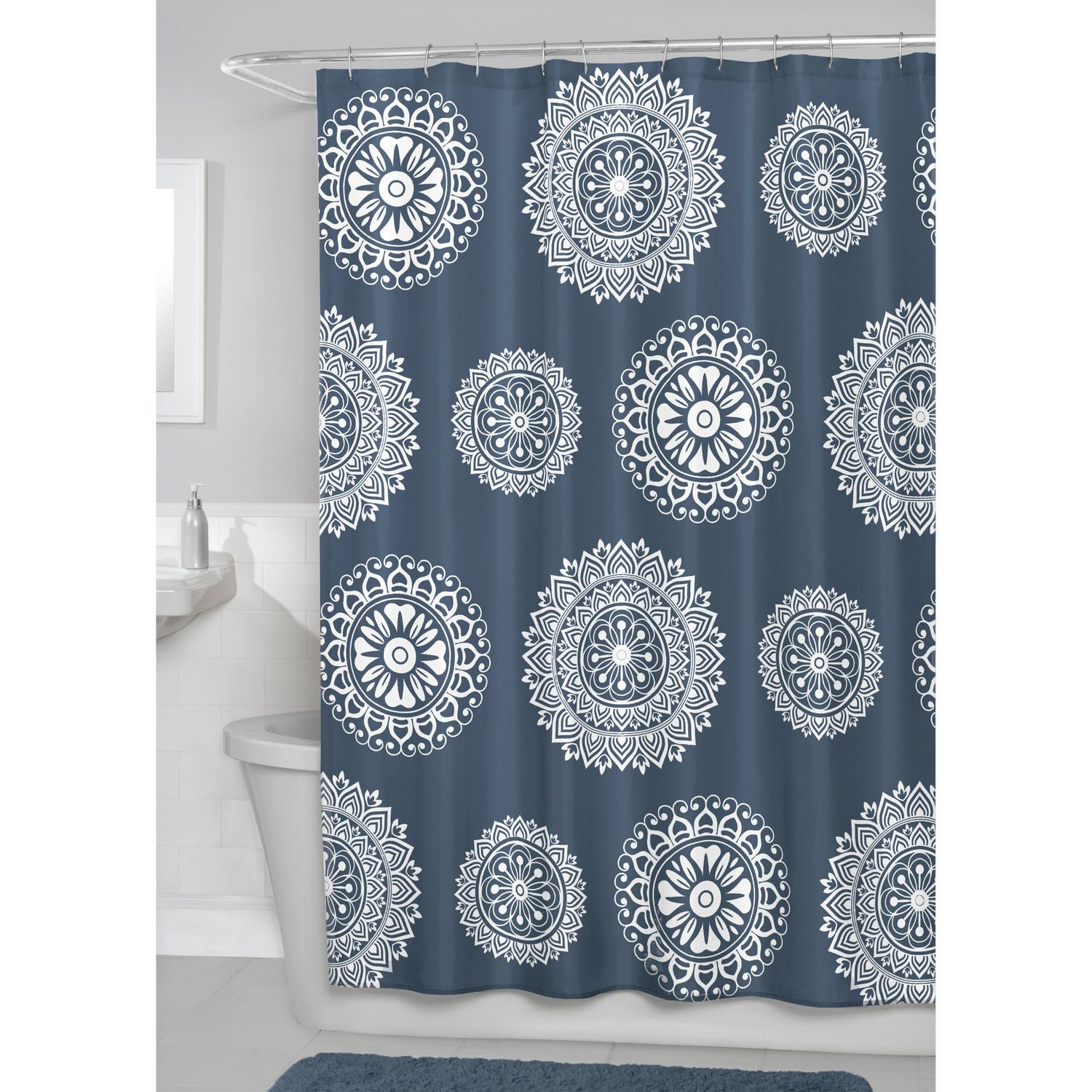 Luxury black and gold shower curtains - Hometrends Maren Fabric Shower Curtain