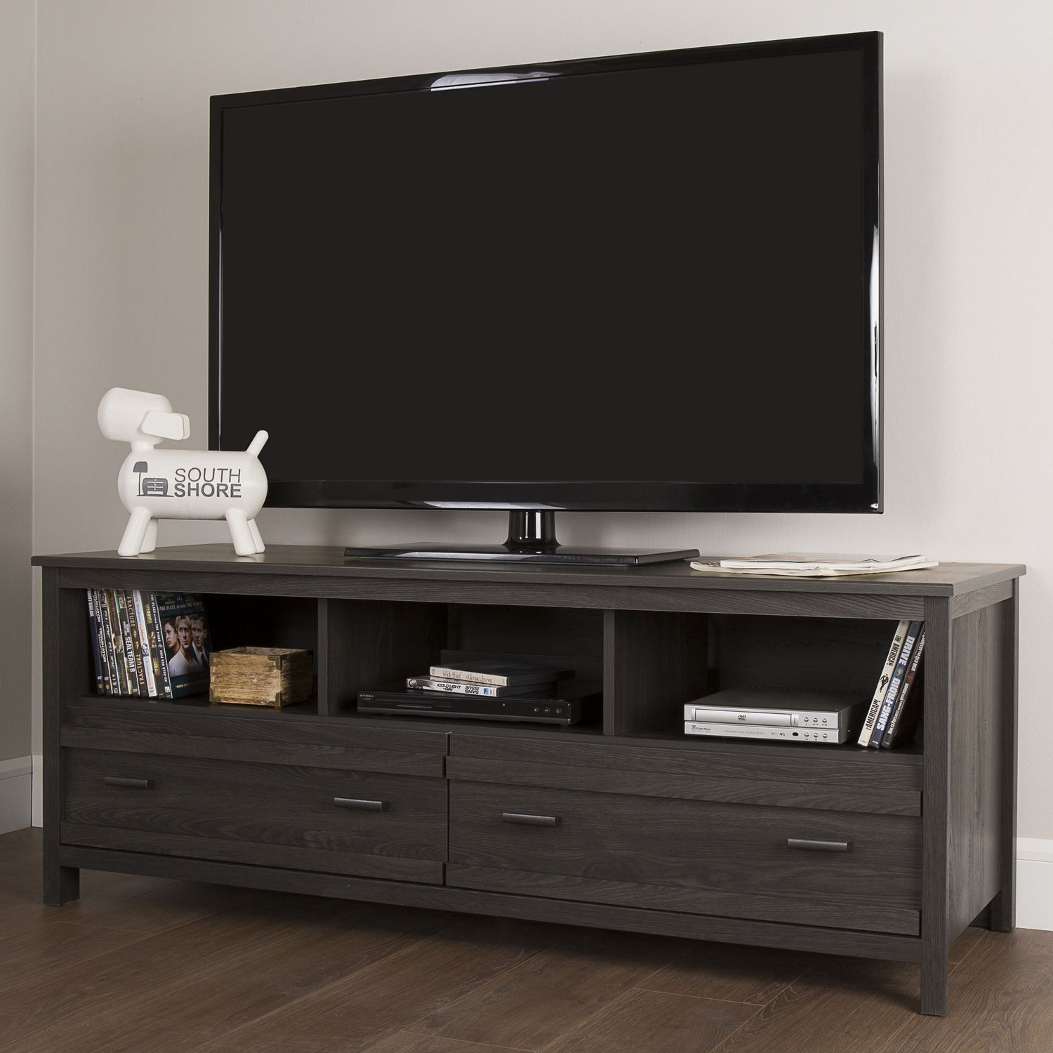south shore exhibit tv stand for tv's up to  inches  walmartca -