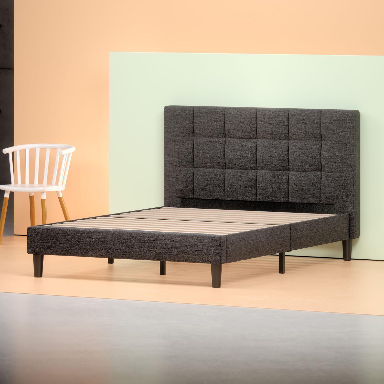 zinus upholstered platform bed  walmartca -