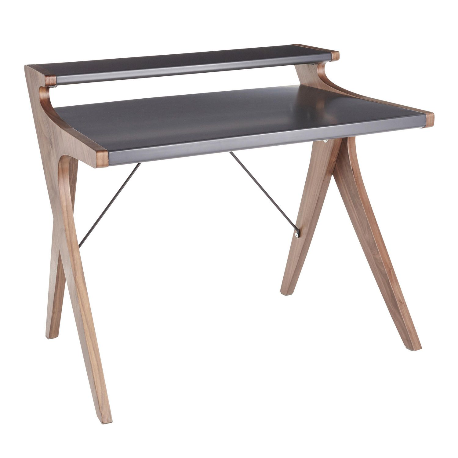 Image of: Archer Mid Century Modern Desk By Lumisource Walmart Canada