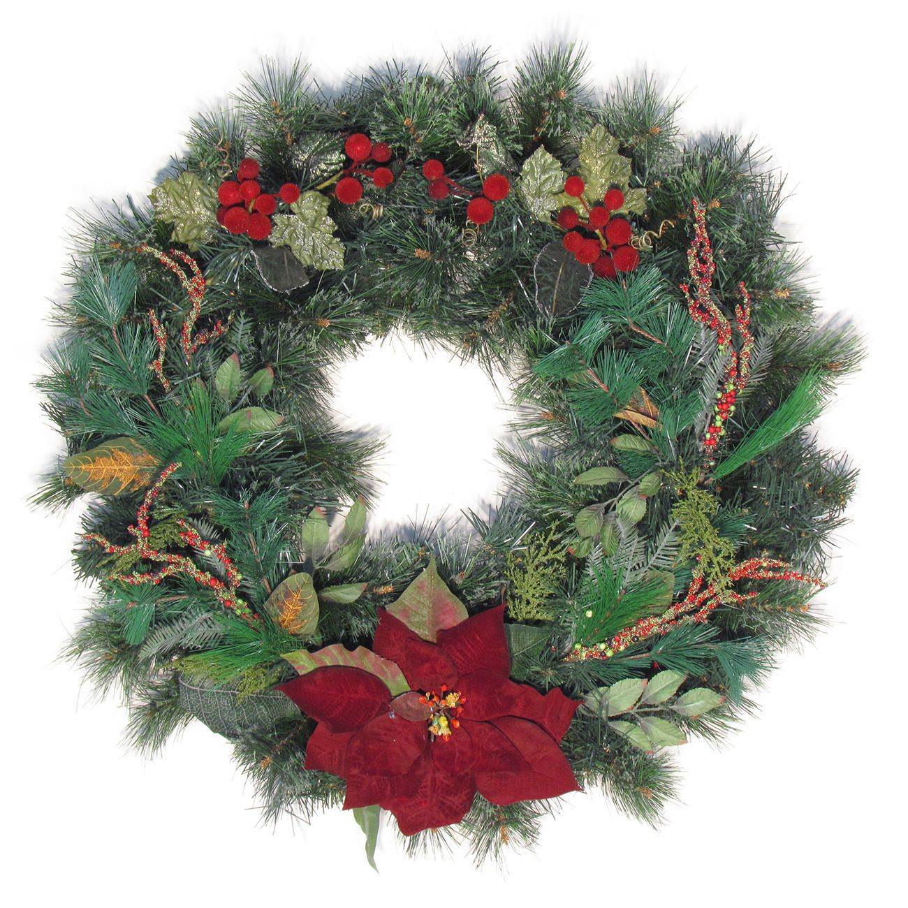 30' Decorated Christmas Wreath