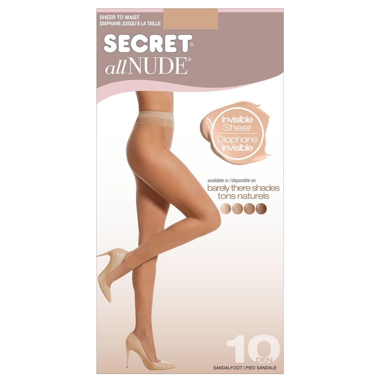 1 Pair Pantyhose Secret Silky womens Run-resistant Sheer-to-waist Pantyhose