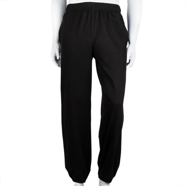 Mens elastic cuffed joggers straight casual jog jogging pants elasticated waist