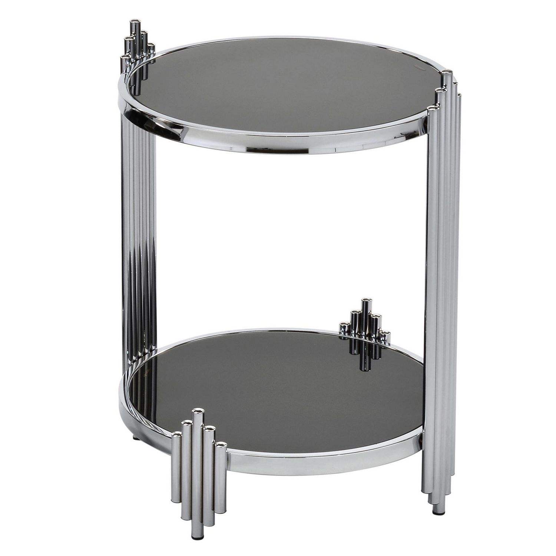 Art Deco Chrome Black Glass End Table Walmart Canada