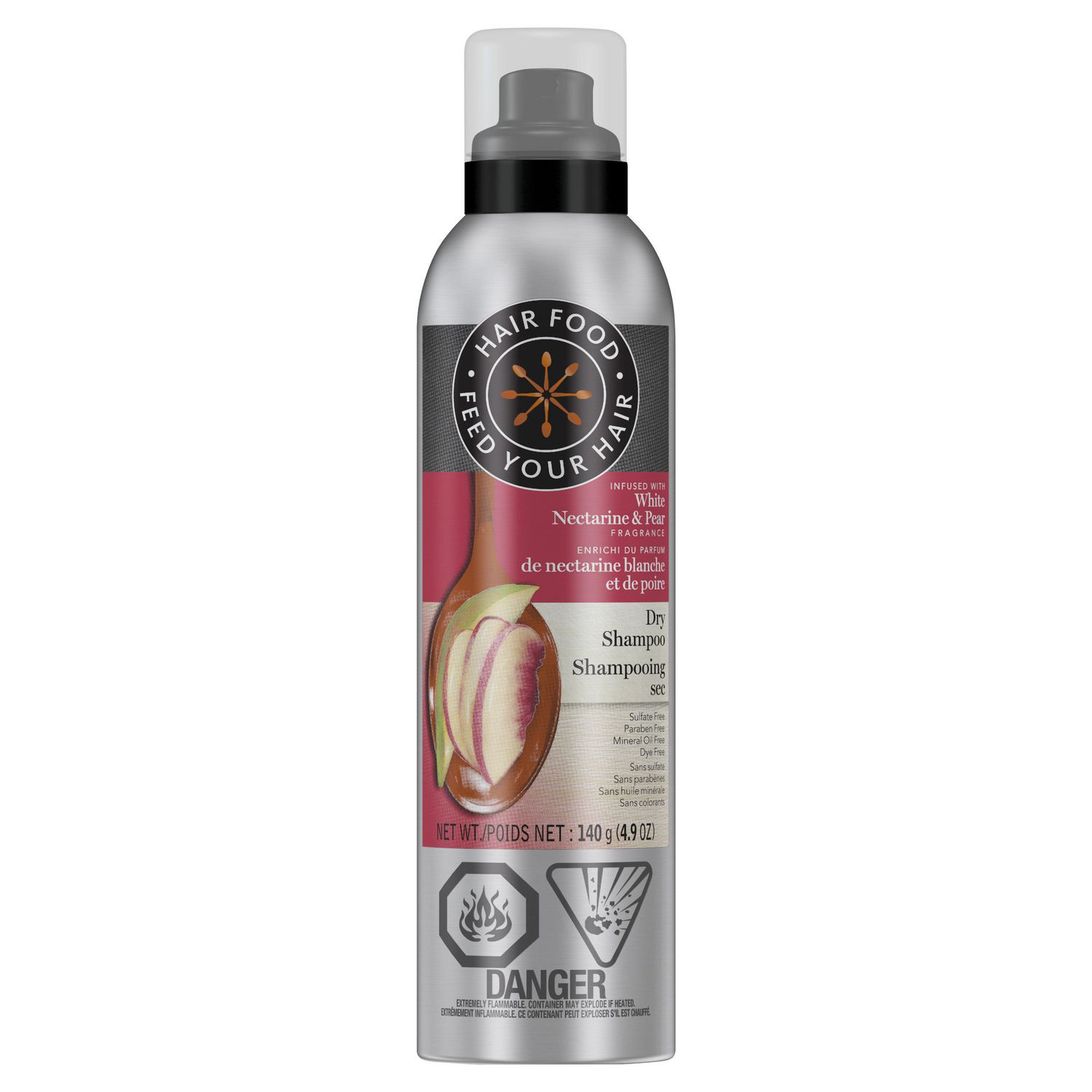 Spray can of Hair Food sulfate-free colour protect dry shampoo - best dry shampoo for red hair