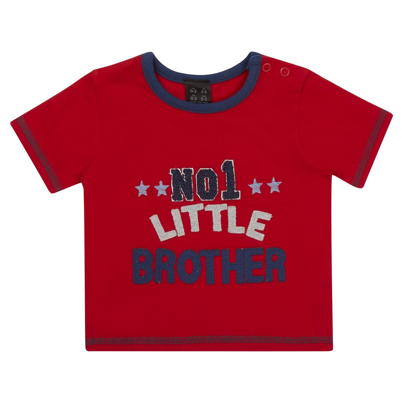 Design t shirt baby - George British Design Baby Boys Little Brother T Shirt