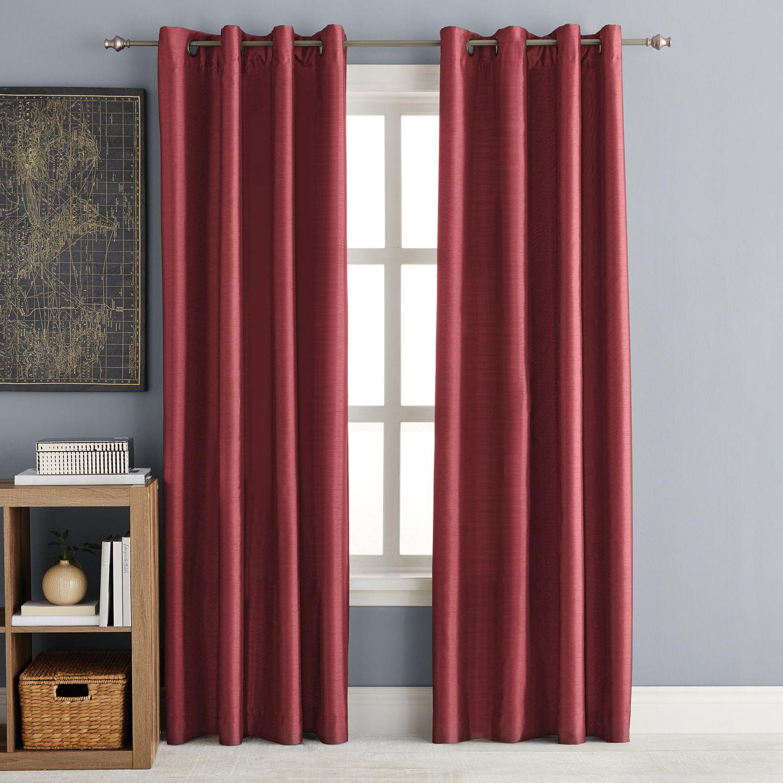 Hometrends 63 Faux Silk Room Darkening Grommet Window Panel Walmart Canada