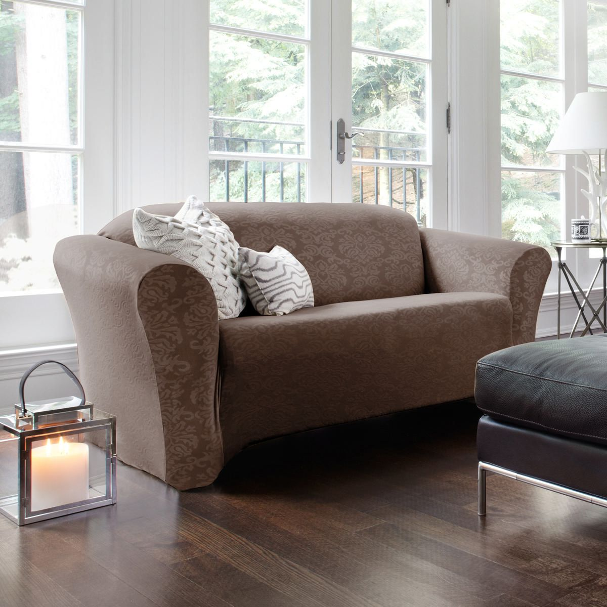 SureFit™ Damask Stretch Sofa Slipcover | Walmart Canada