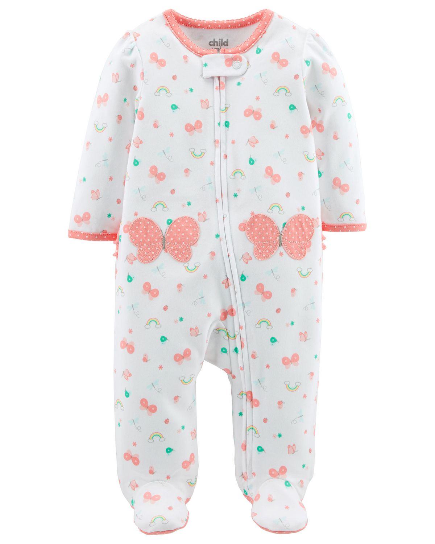 89e5e0c9539d6 Tenue avec pyjama-grenouillère pour nouveau-née fille Child of Mine made by  Carter s – papillon. Tailles PRE à 6 mois
