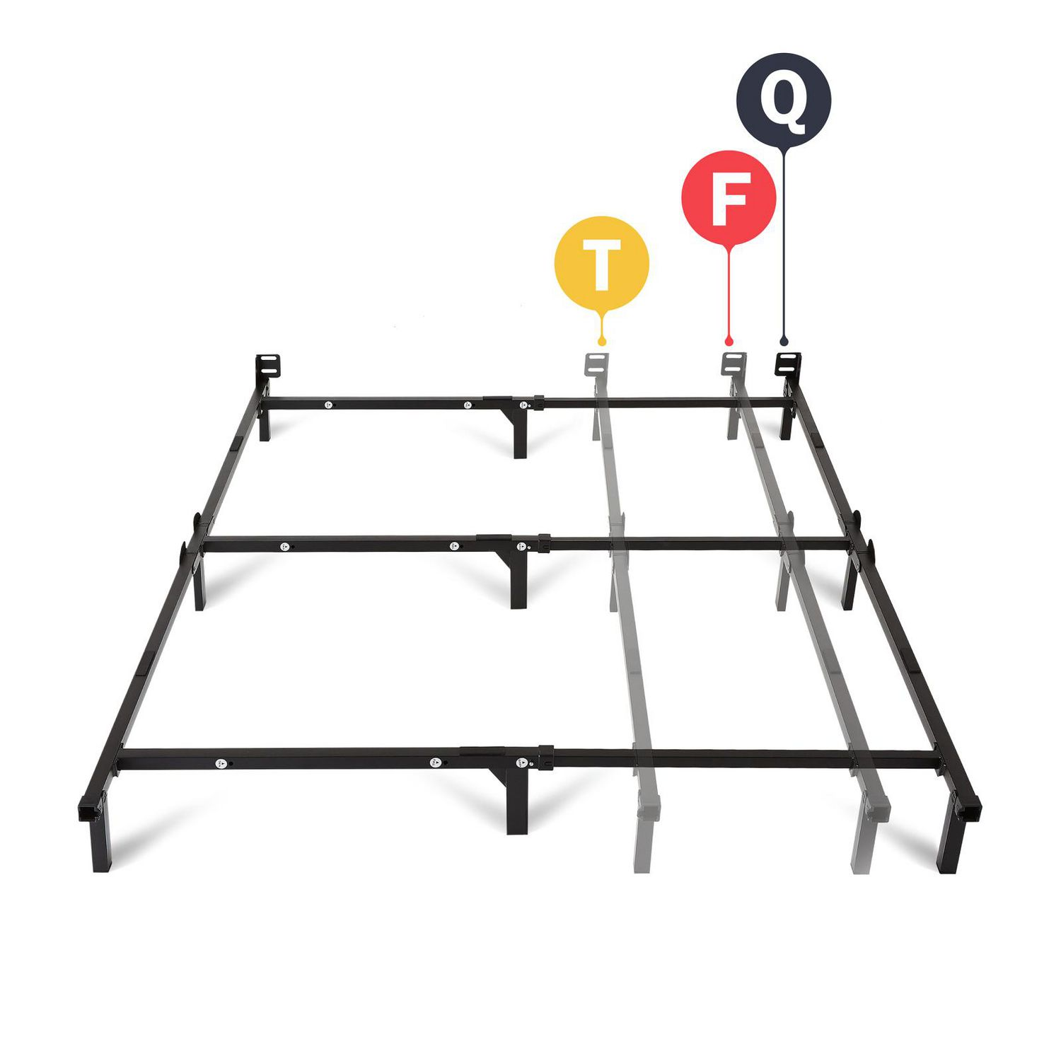 Picture of: Mainstays Adjustable Metal Bed Frame Walmart Canada