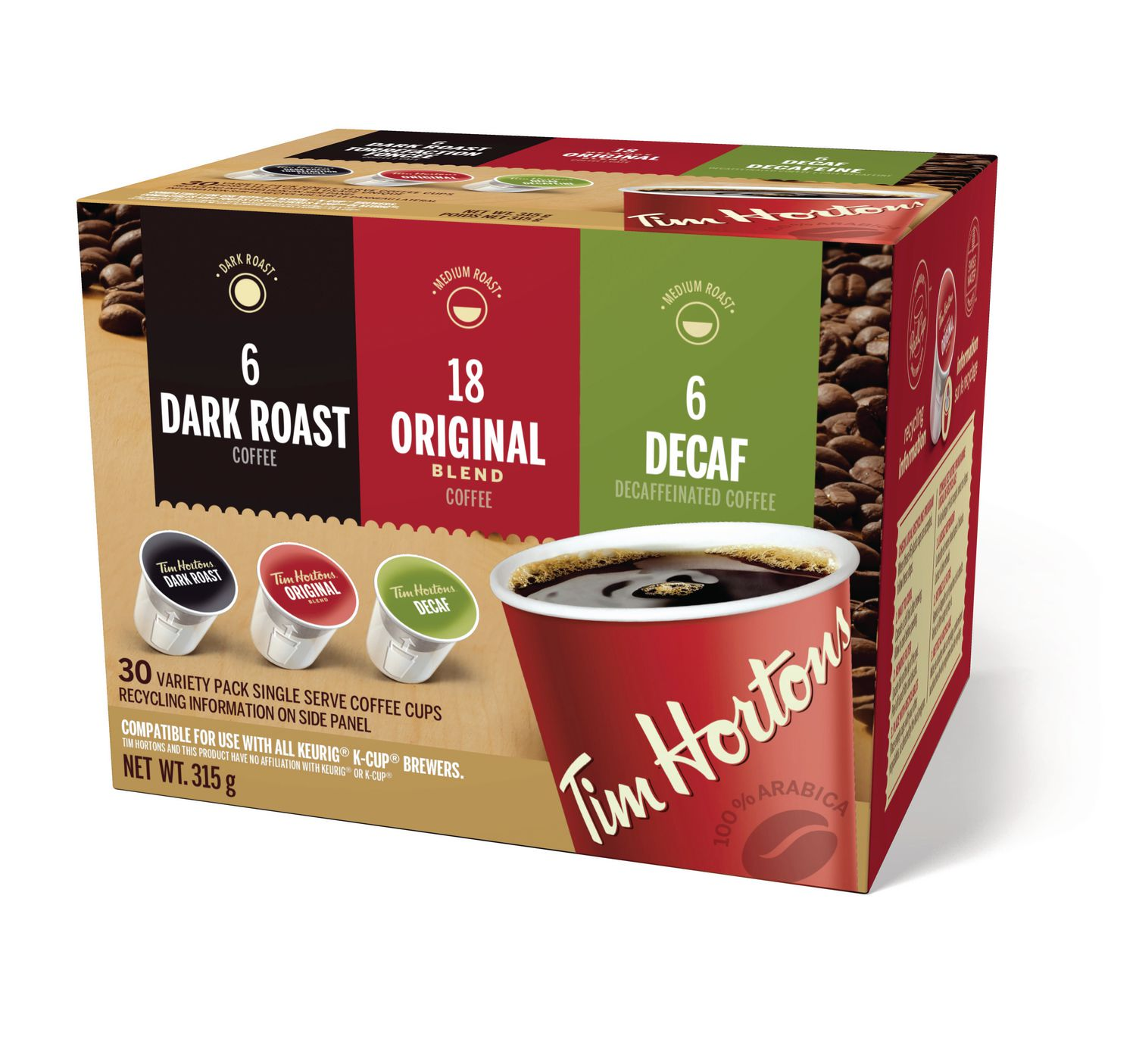 tim hortons coffee box