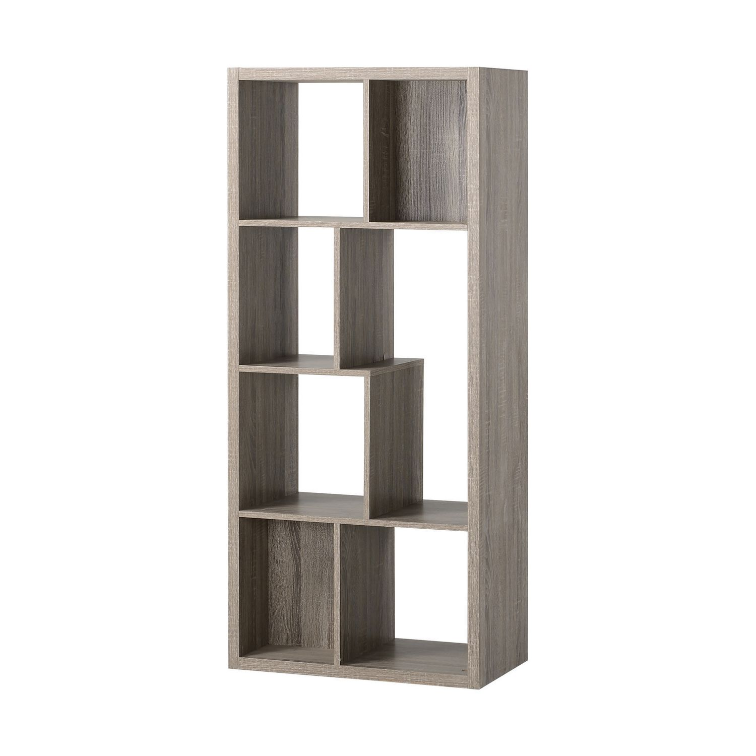 Homestar 7 Compartment Shelving Console in Reclaimed Wood ...