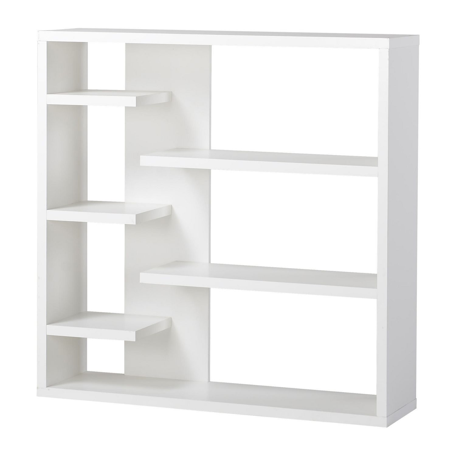 homestar 6 shelf storage bookcase in white