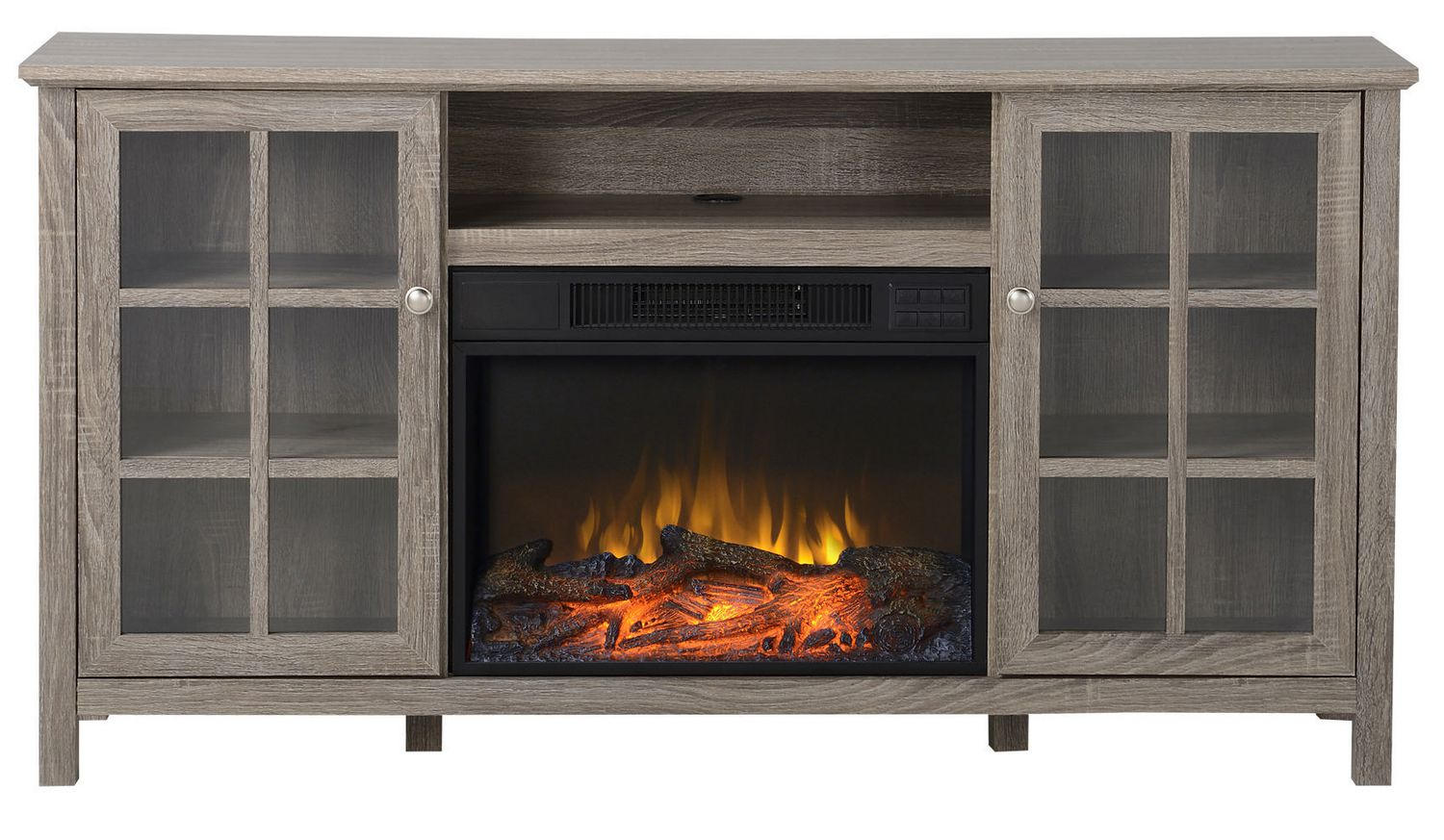 flamelux provence media fireplace in reclaimed wood 60 inch wide