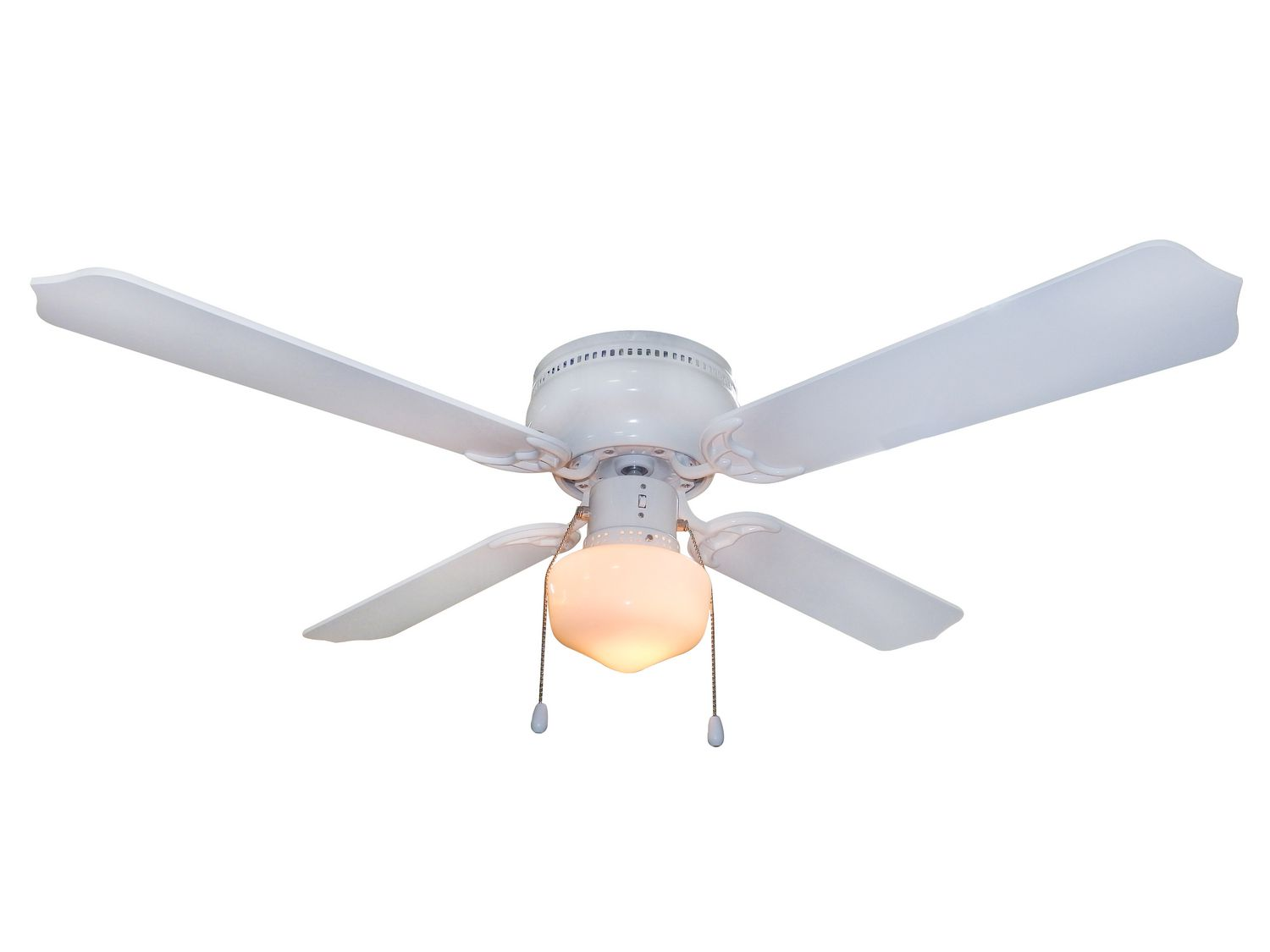 Home Trends 42 U0026quot  Single Light White Flushmount Ceiling Fan