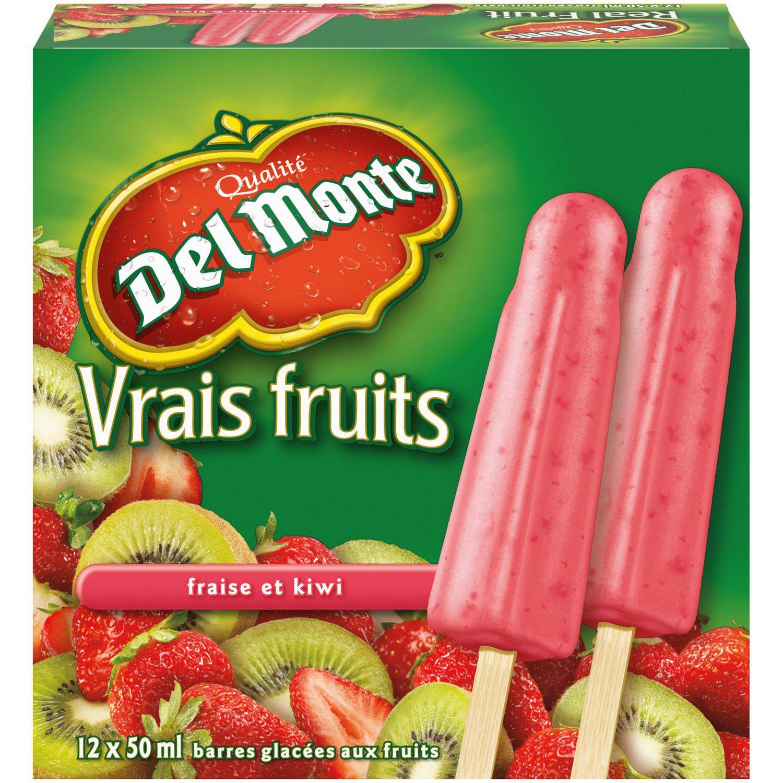 barres aux fraises et kiwis vrais fruits de del monte(md) | walmart