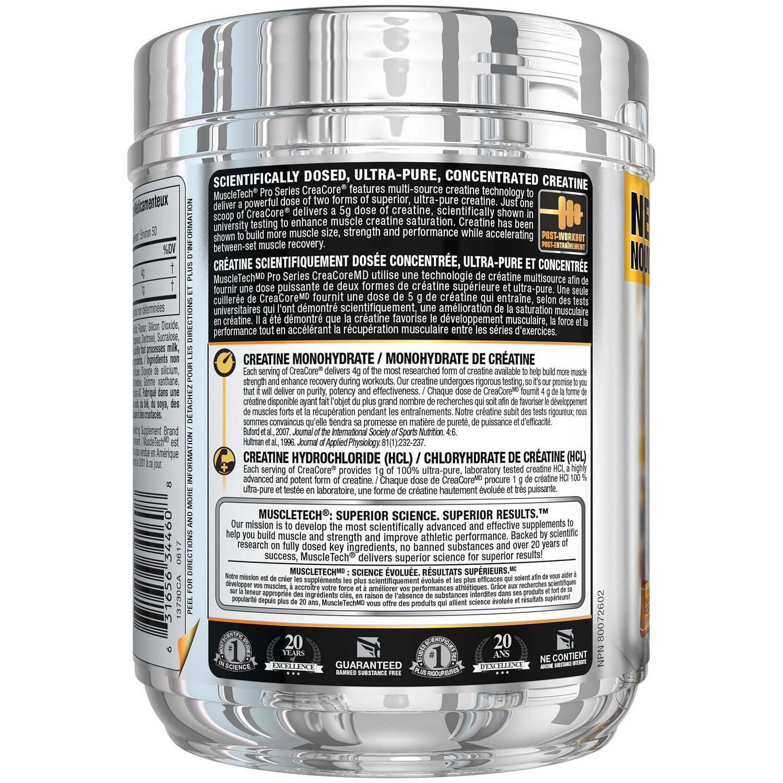 Muscletech Pro Series Creacore Creatine Fruit Punch Fusion Powder Platinum 400 Gram Walmart Canada