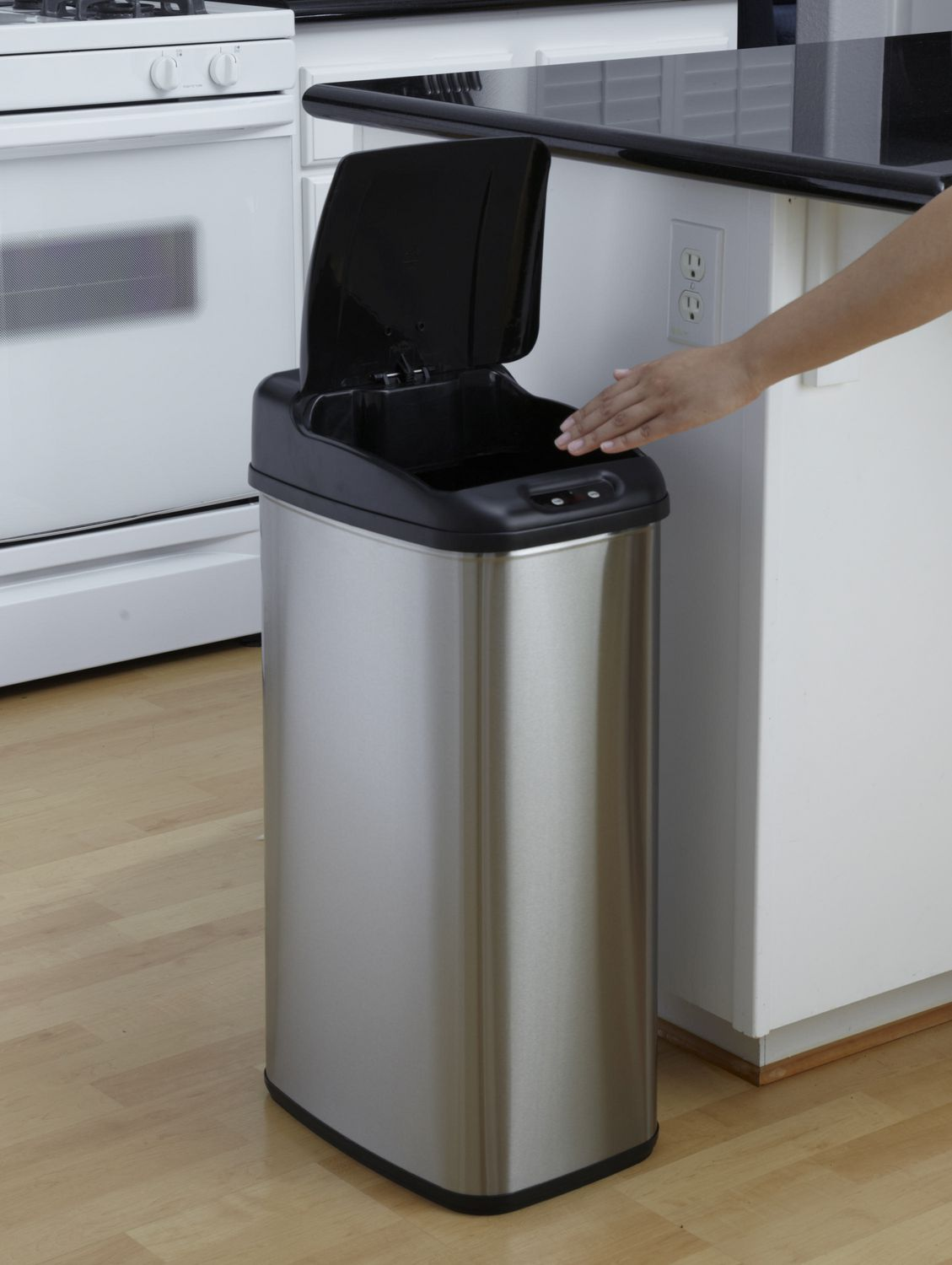 Beautiful Nine Stars Motion Sensor Slim Touchless 13.2 Gallon Trash Can | Walmart  Canada