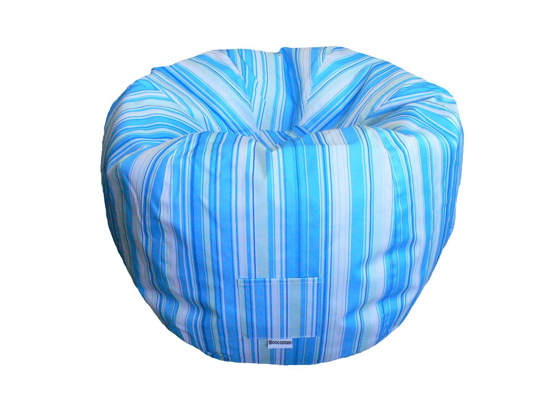 Boscoman Teen Round Striped Bean Bag Chair