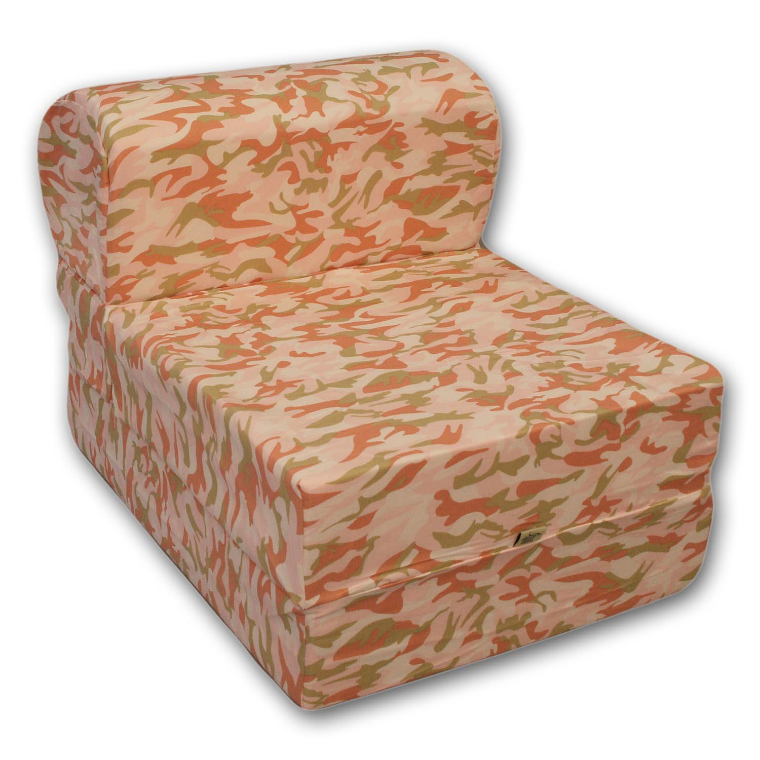 shown futon chair optional cover fabric sky and big cedar with ottoman set