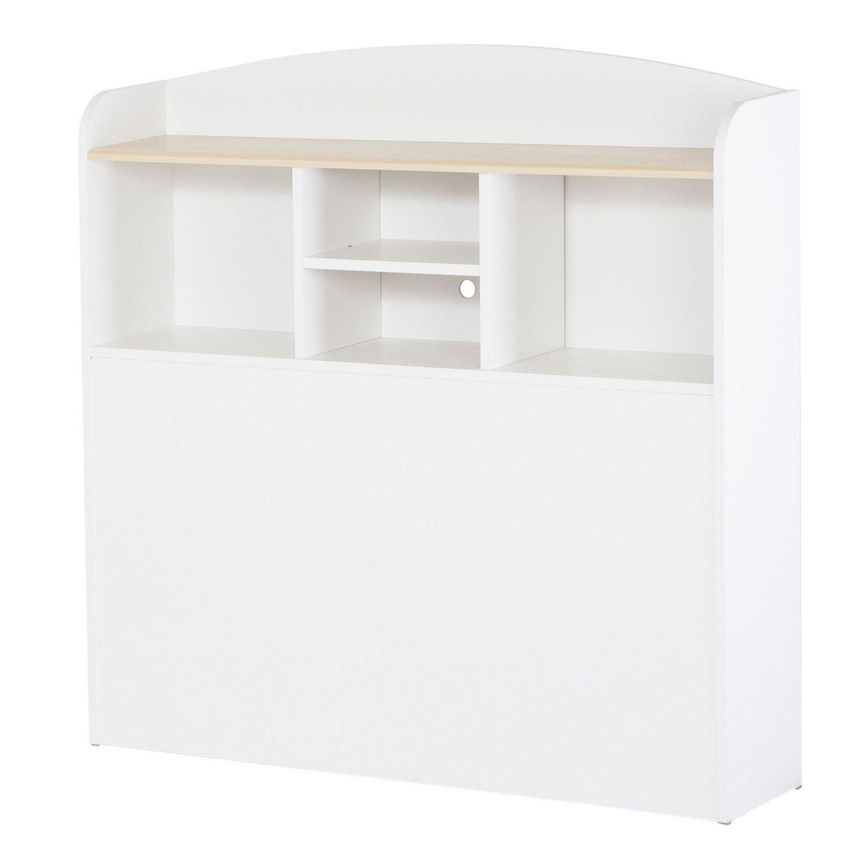 south shore summertime collection twin size natural maple u0026 pure white bookcase headboard walmart canada