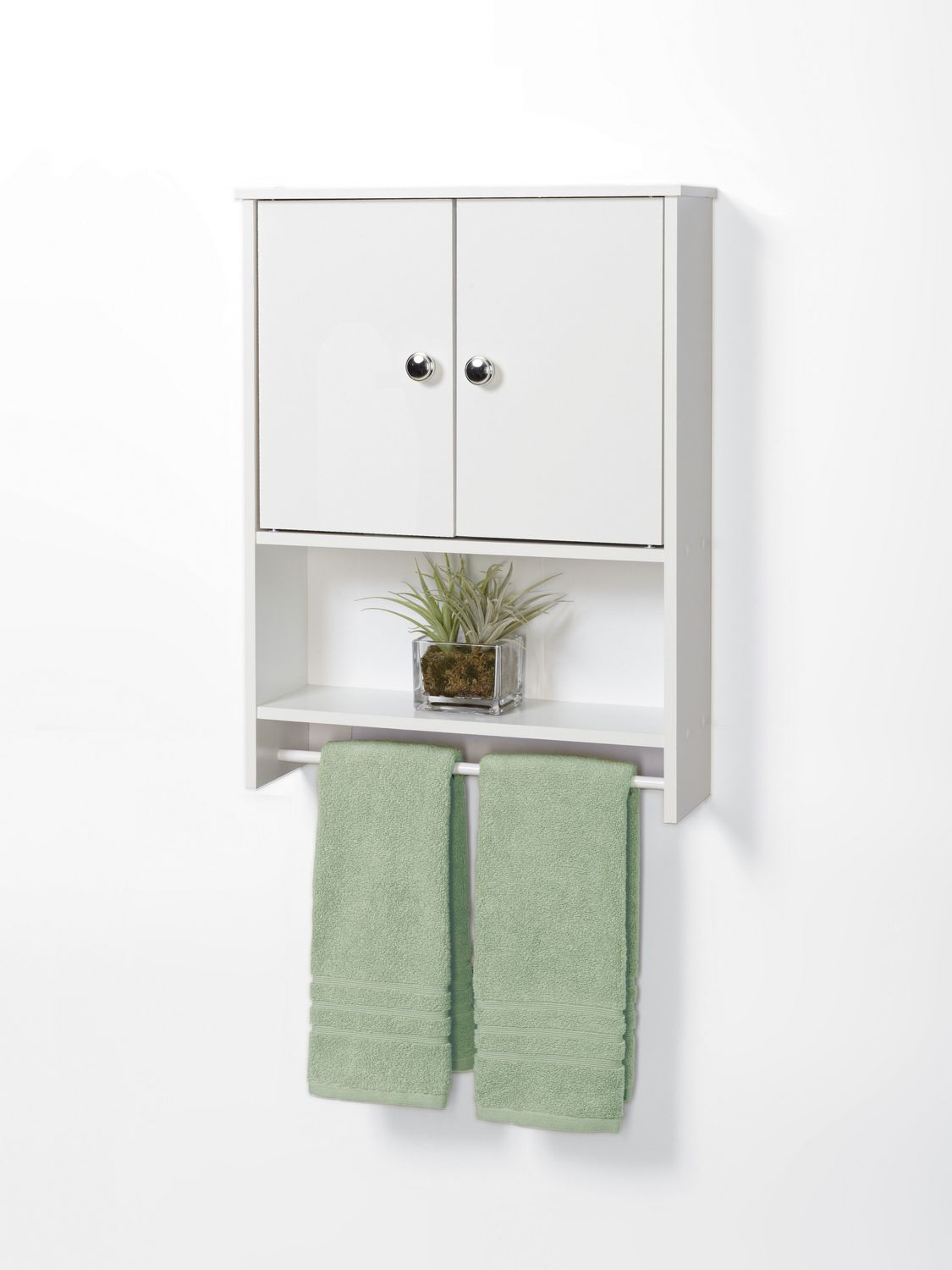 mainstays white wood 2-door wall cabinet | walmart.ca