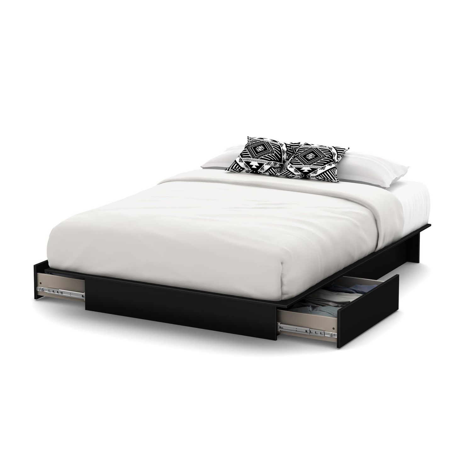. south shore soho collection storage platform bed  walmart canada