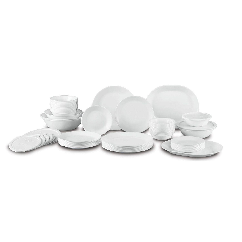 White apron oshawa - Corelle Livingware Winter Frost White Dinnerware Set