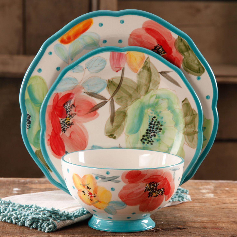 sc 1 st  Walmart Canada & The Pioneer Woman Vintage Bloom 12 Piece Dinnerware Set | Walmart Canada