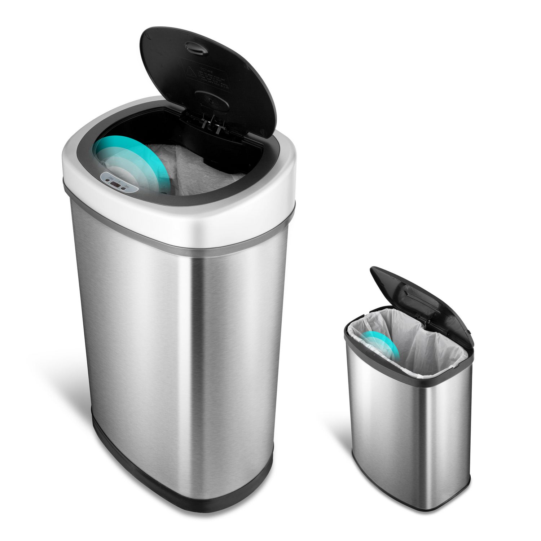 Nine Stars Motion Sensor Touchless 13 2 Gallon and 2 1 Gallon Trash