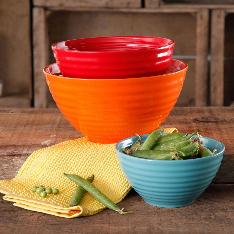 pioneer woman dishes walmart. the pioneer woman flea market 3-piece ceramic mix bowls   walmart canada dishes i