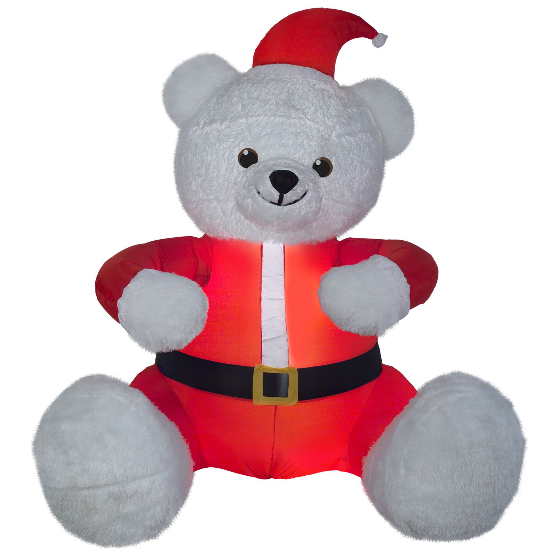 airblown 6 u0027 animated hugging white teddy bear inflatable walmart