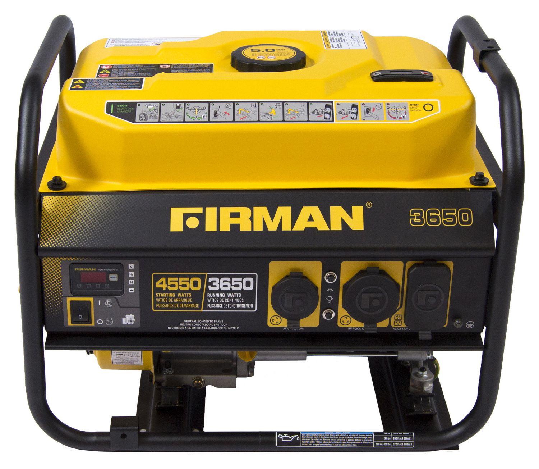 Firman Power Equipment P Gas Powered 4550 3650 Watt