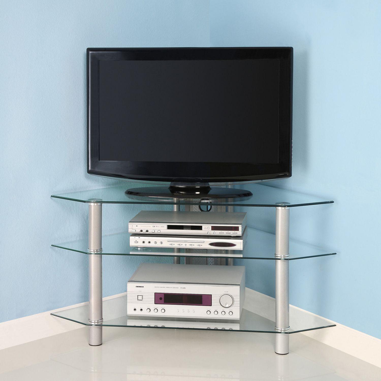 we furniture  silver glass corner tv stand  walmartca -